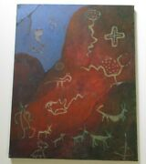 Philip North Painting Landscape Paleolithic Animals Modernism Expressionism