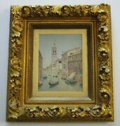 Antique Henry Pember Smith Painting Landscape Italian 19th Century Listed Rare