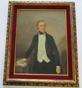 Antique 18th To 19th Century Oil Painting Masterful Old Gentleman Man Male Men