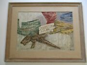 Milton Cohen Painting American Mid Century Abstract Cubist Cubism 1950and039s Rare