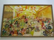 1970 Lowbrow Pop Art Painting Large Original Musician Band Concert Funk Abstract