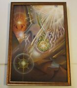 Michael Divine Painting Original Acrylic Abstract Surreal Psychedelic Modernist