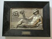 Antique Art Deco Sculpture 1920and039s Male Model Icon Iconic Nautical Old Ship Rare