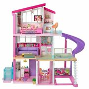 Barbie Dreamhouse Dollhouse With Wheelchair Accessible Elevator Pool And Sli...