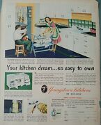 1948 Youngstown Kitchens By Mullins Your Dream So Easy To Own Vintage Ad