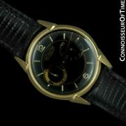 1954 Lecoultre Futurematic Vintage Mens Solid 14k Gold Watch - Rare And Minty