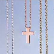 Cross Necklace Or Pendant 14k White Yellow Rose Gold Platinum Or Sterling Silver
