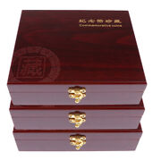 3xwooden Coin Box Storage 30 Grids Holder Display Case 46mm Sized Collection
