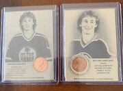 2 Wayne Gretzky One-cent Long Hair 1979 Coin Card Authenticated Ink Oilers