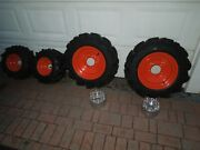 Kubota Bx-2200 Tractor Set Of 4 Studded With Wheels And Spacers