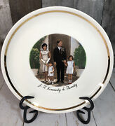 President John F Kennedy And Family 1961-63 Collectibles 9 Plate With Gold Trim