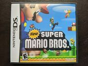 New Super Mario Bros. Nintendo Ds 2006 W Box Manual Inserts Very Nice
