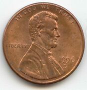 Usa 1996d American 1 Cent American Lincoln Memorial Penny 1c 1996 D Exact Coin