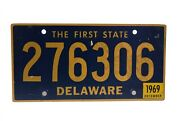 1969 Delaware The First State License Plate 276306