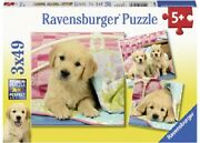 Ravensburger 3 X 49 Piece Jigsaw Puzzles - Cute Puppy Dogs