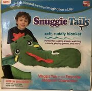 Snuggie Tails Green Dragon Soft Cuddly Blanket As Seen On Tv