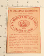 1920's Mrs. Winslow's Soothing Syrup Children Teething Cure Wind Colic Print Ad