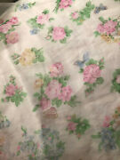 Vintage 40s Sheer Rose Butterfly Fabric Chiffon Heirloom Sewing Fabric