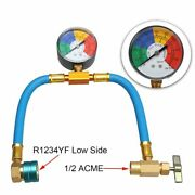 R1234yf Refrigerant Charge Hose With Gauge Coupler Kit For Car Air-conditioning