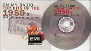 On My Radio Top Hits Of The 1950's Cd 1999 22 Songs Nat King Cole Les Paul+