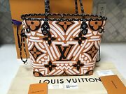 New 100 Auth Louis Vuitton Monogram Crafty Caramel/black Neverfull Mm-no Pouch