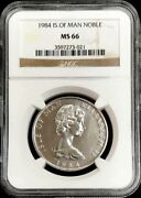 1984 Platinum Isle Of Man Noble 2,000 Minted Ngc Mint State 66