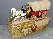Plastic Battery Operated Old West Covered Wagon Mib