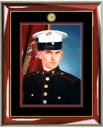 Usmc Picture Frame Marine Corps Wall Portrait Photo Frame Plaque Military Gifts