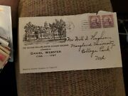 Usa Fdc Daniel Webster Exeter Nh Oct 24 1932 Cachet Cover Us