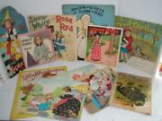 Antique Lot Of Childrens Books Puzzles Early 1900's Shirley Temple Snow Drop