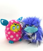 Lot Of 2 Interactive Toys 2012 Hasbro Furby Pink And 2018 Grumbles Purple Tested