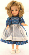 Vintage 1950s Vinyl Shirley Temple Doll 14 -15 With Clothing Dress Outfit Lot
