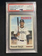 2019 Topps Heritage Fernando Tatis Jr Rc Psa 10 French Text Only/68-70 Made Pop5