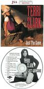 Terri Clark Signed Just The Same Album Cover W/ Cd And Case- Jsa Ee57555