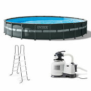 Intex 24and039 X 52 Round Ultra Xtr Frame Pool Set With Filter Pump For Parts