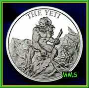 2oz The Yeti Cryptozoology Collection Series Abominable Snowman Bigfoot Legend