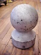 Large Antique Cast Iron Round Finial Top Post Topper Architectural Hardware