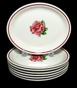 Great Northern Railroad Syracuse China - 7 1949-51 Montrose Rose 12 Oval Plates