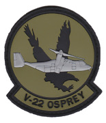 Marine Corps V-22 Osprey Helicopter Squadron Hook And Loop Pvc Jacket Patch