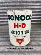 1950andrsquos Conoco H-d Motor Oil Can 1 Qt. - Gas And Oil