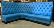 Corner Wall Bench L Shape Upholstered Diamond Tufted 36high Back Made In Usa