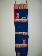 Vintage Peanuts / Snoopy Hanging Fabric Shoe Holder