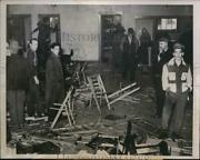 1941 Press Photo Richmond Ind Wreckage From Riot At Ih Plant