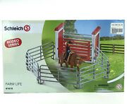 Schleich Bull Riding Ring Rodeo Cowboy New 41419 Farm Toy Figures 10pc Set Boxed