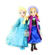 16 Inches Disney Frozen Movie Queen Elsa And Anna Plush Soft Doll Gift Collection