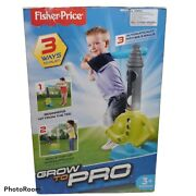 New Fisher Price Grow To Pro Triple Hit Baseball 3+ Automatic Ball Batteries