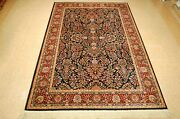 Great Size Authentic American Karastan Navy Sarouk Pattern700/791 Rug 5and0399 X 9and039