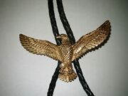 Gold Eagle Bolo Solid 14k Gold With Diamond Eye Custom Made