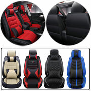 Universal Heavy Pu Leather Full Wrap Car Seats Cover Protector Fly5d Cushion Set