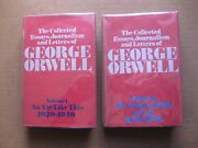 The Collected Essays Journalism And Letters Of George Orwell - 1st Uk Hcdj -1984